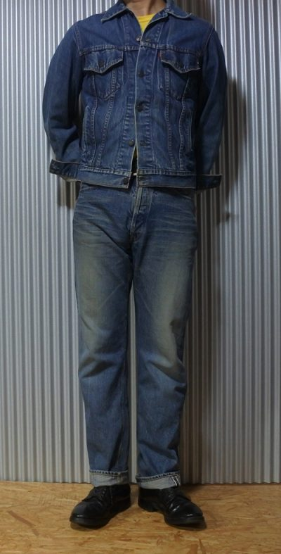 WAREHOUSE 50s Vintage jeans Reprint Selvedge wearing image