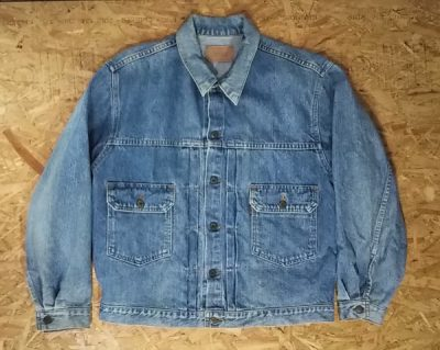 LVC 90s Levi's 70502-0217 Denim Jacket Tracker jacket L Type 2nd Orange tab