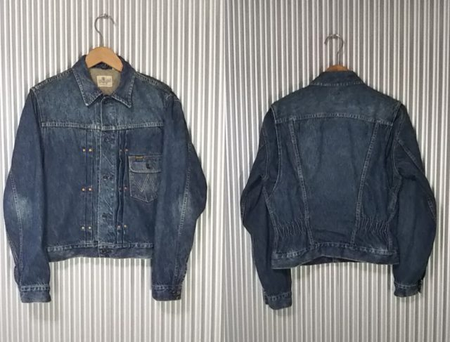 50s Wrangler 11mj Prototype Western Jacket Front and rear