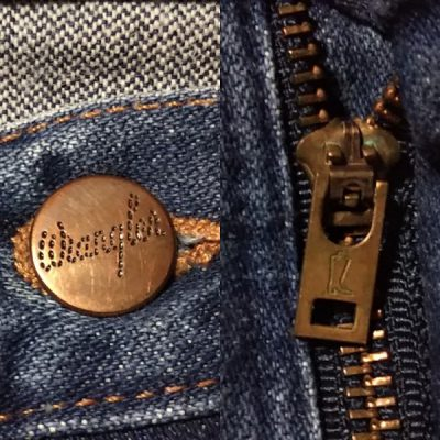 WRANGLER 13MWZ Made in USA Top button and zipper