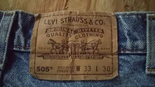 1990s Levi's 505 Made in USA W32-33 Paper label