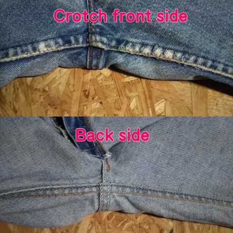 VTG 1980s Levi's 517 Made in USA W32 rubbing on the crotch. no damage on the back side.