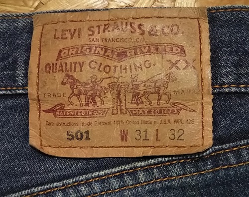 90s Levi's501 Made in USA W31 1999 made Paper label