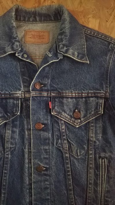 90s Levi's 70506-0216 Denim Jacket Tracker jacket Size34 Made in USA Good Condition