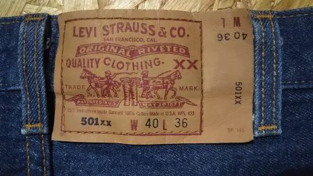 90s Levi's501 Made in USA W37-38 1995 made Paper label