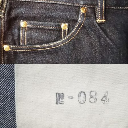 Big john double knee selvedge denim jeans W33 Coin pocket and serial number