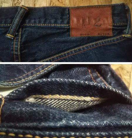 "EVISU Jeans Lot.2000 (No.2 / Tiger Selvedge) Misaligned belt loop ""backmost"" and Selvedge in coin pocket"