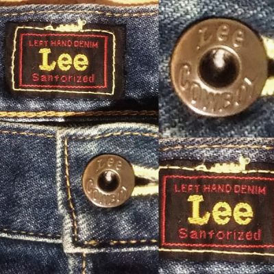Lee Cowboy 101B WWⅡ1944 Reprint Center red tag and Top button with engraved cowboy