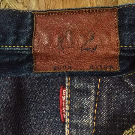 EVISU Jeans Lot.2000 (No.2 / Tiger Selvedge) Leather label and red tag