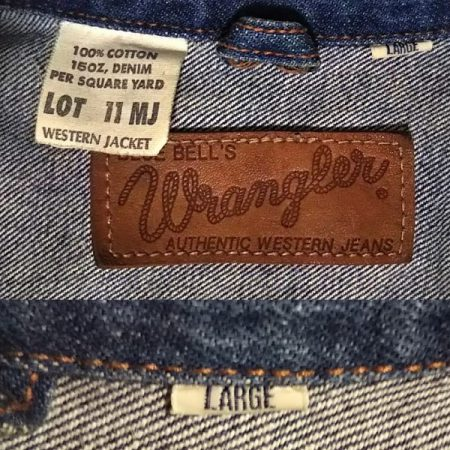 50s Wrangler 11MJ Western Jacket Leather label