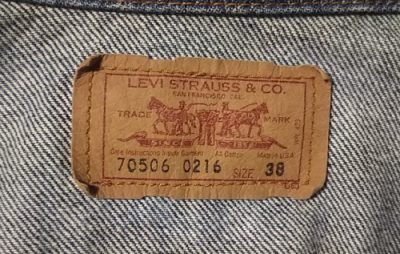 90s Levi's 70506 Made in USA 38 Vintage 1990 Made Paper label