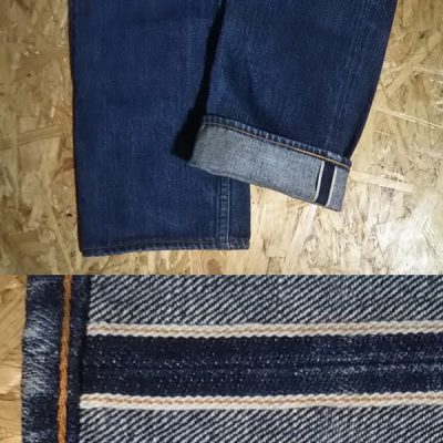 DENIME Selvedge Tapered Straight Jeans Selvedge denim and chain stitch