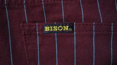 90s BISON Striped color pants Pis name