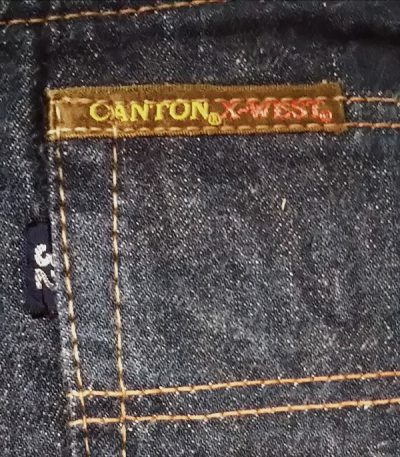 60s CANTON Selvedge Slim jeans. Pis name
