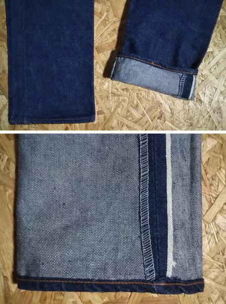 60s CANTON Selvedge Slim jeans. One-sided selvedge