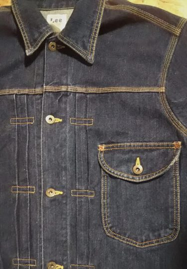 30s LEE COWBOY Denim Jacket Large Front pleated and patch pocket