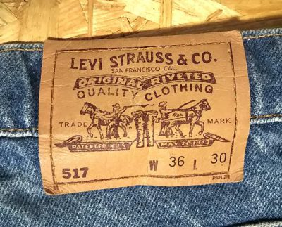 90s Levi's 517 W35-36 MADE IN USA 1996 made Paper label