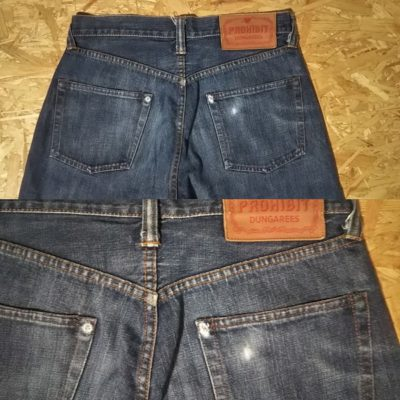 """""""PROHIBIT"""" selvedge jeans. From NY select shop brand Back pocket"""