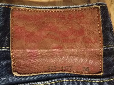 "STUDIO D'ARTISAN SD-107 15oz Selvedge Super tight W34-35 Japan Leather label"" Goat leather"""