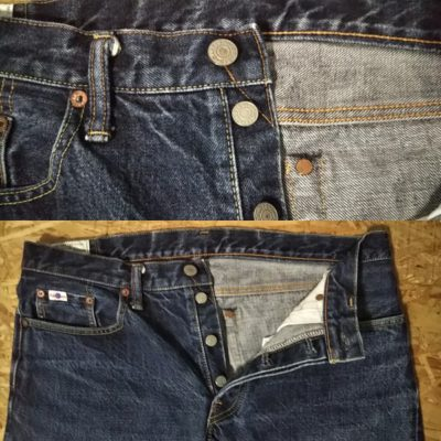 "STUDIO D'ARTISAN SD-107 15oz Selvedge Super tight W34-35 Japan V stitch ""top button"" and Hidden rivets"