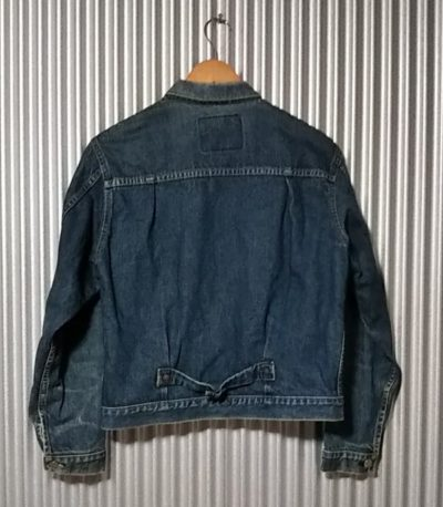 LVC 90s Levi's 70502XX 1st type denim jacket size38 Rear view
