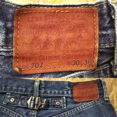 "LVC 90s Levi's 702""30s 501 reprint"" 140th anniversary Japan mode W28-29 Leather label andCinch buckle"