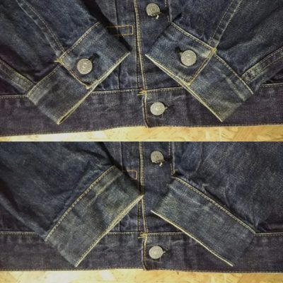 90s Levi's 507XX type 2nd denim jacket Fade on sleeves