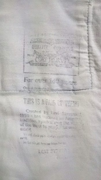 """90s Levi's 502xx""""60s 501Zxx reprint"""" W33 140th anniversary letter """"front pocket bag"""""""