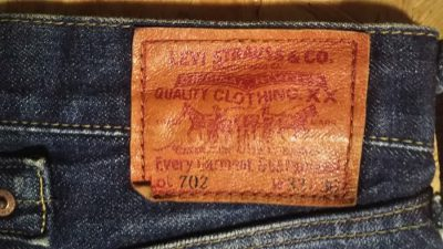 """90s Levi's 702""""30s 501 reprint"""" 140th anniversary Japan mode W32-33 Leather label"""