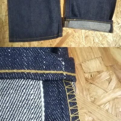 """Hem """"Selvedge and chain stitch"""" 40s Lee Riders jeans Reprint Unused Raw denim 90s made"""