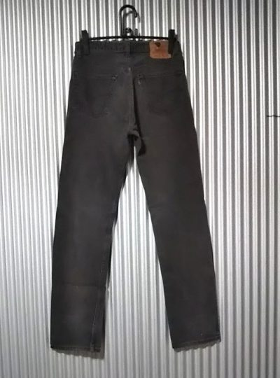 Rear view of 1990s Levi's 501 Made in USA 1992 made Black W31-32 L33