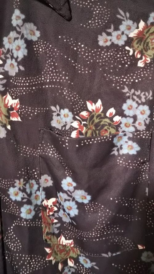 """Pattern of 70s """"Sears"""" polyester shirt."""