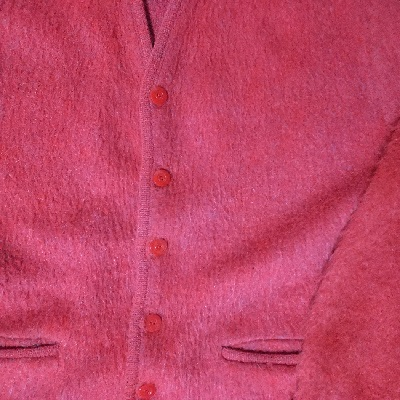 Front view - 60s mohair cardigan