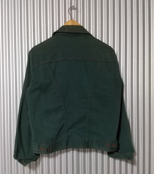 """Rear view - 70s """"Rampage Horse Tag"""" Wrangler Western Jacket."""