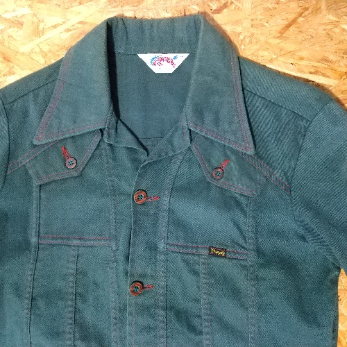 """Front view - 70s """"Rampage Horse Tag"""" Wrangler Western Jacket."""