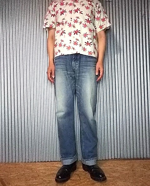Lee Riders 101Z Jeans. 1952 Reprint Wearing image