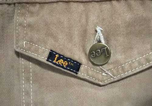 Pis name and Lee engraved button - 70s Lee Twill Riders Jacket