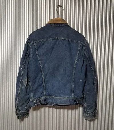 Back view - 70s Lee 101 LJ Storm Rider Jacket. Made in USA 1970-1973 size 40 LONG