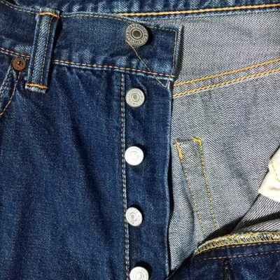 """V stitch """"top button"""" and Button fly - WAREHOUSE 1000 (1000XX). Model XX Japanese jeans"""