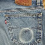Jeans, chewing tobacco fade.