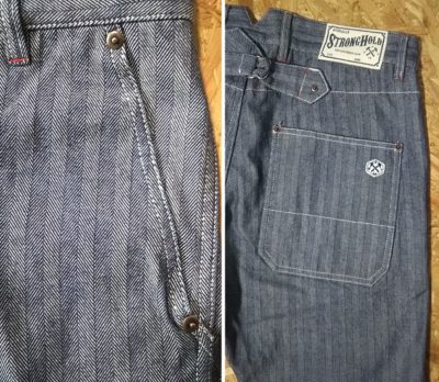"""Material - """"STRONG HOLD Overalls"""" Herringbone Tapered Work Pants"""