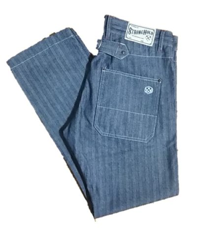 """Herringbone Tapered Work Pants """"STRONG HOLD Overalls""""-1"""