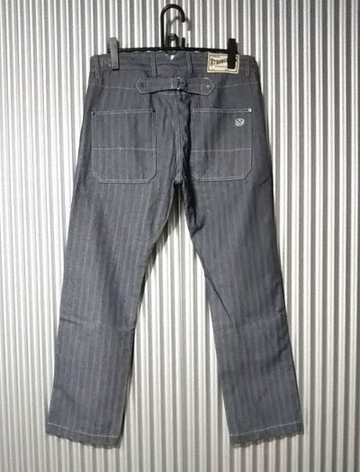 """Back view - """"STRONG HOLD Overalls"""" Herringbone Tapered Work Pants"""